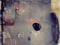 korpus silnika po obrobieniu wybitego otworu