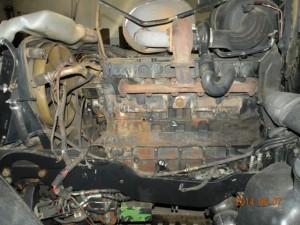 pospawane pęknięcie silnika Deutze-Fahr